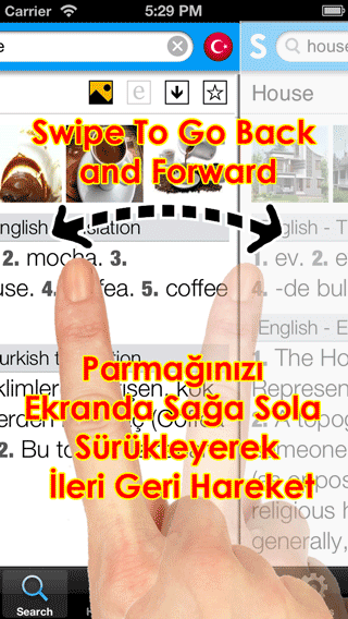 Sesli Sozluk iPhone How to Gestures